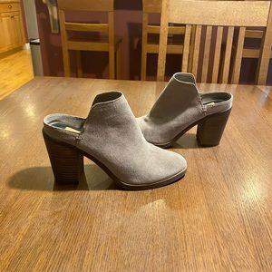 Dolce Vita genuine suede grey booties / mules sz7